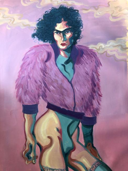 Giorgio Celin Muerte a la Norma oil and oil pastels on canvas 70x110 cm €2000