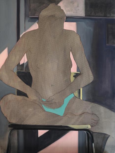 Eder Olguin Apparition Nue, 2020 Oil on canvas  80 x 60 cm