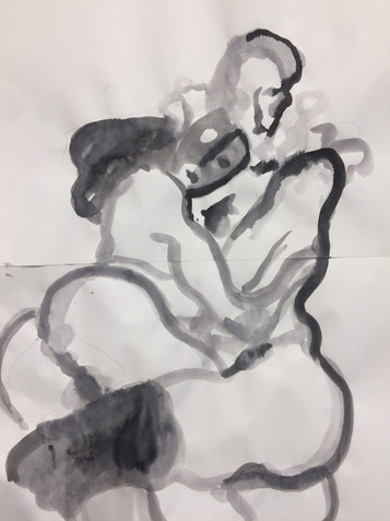 Giorgio Celin Ermafrodito e Salmace, 2019 ink on paper 30x42 cm €500