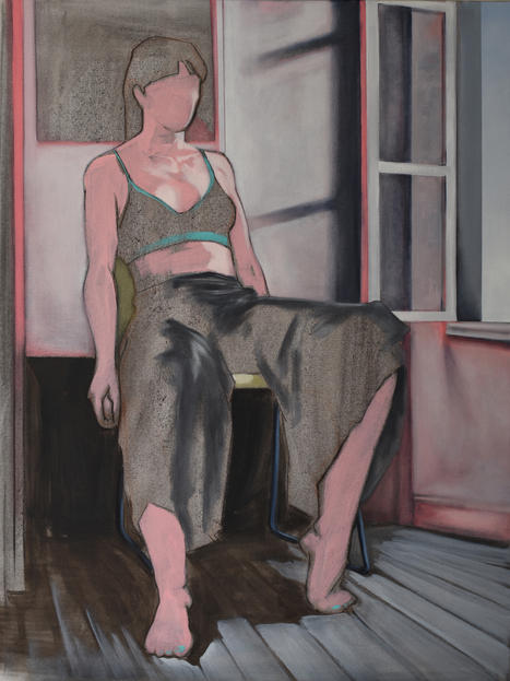 Eder Olguin Apparition Rose, 2020 Oil on canvas  80 x 60 cm