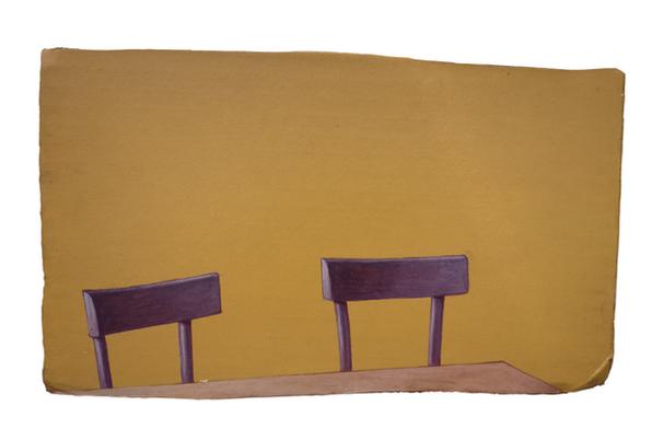 Damiano Azzizia CATISOFOBIA Acrylic on cardboard 26 x 16 cm