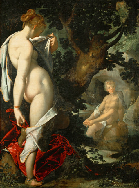 Bartholomeus Spranger Hermaphroditus and Salmacis oil on canvas, 1580-1582 Collection of Gemäldegalerie, Berlin