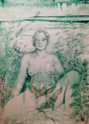 Elisa Filomena Volteggio, 2021 Acrylic on canvas 105x68 cm €2,200