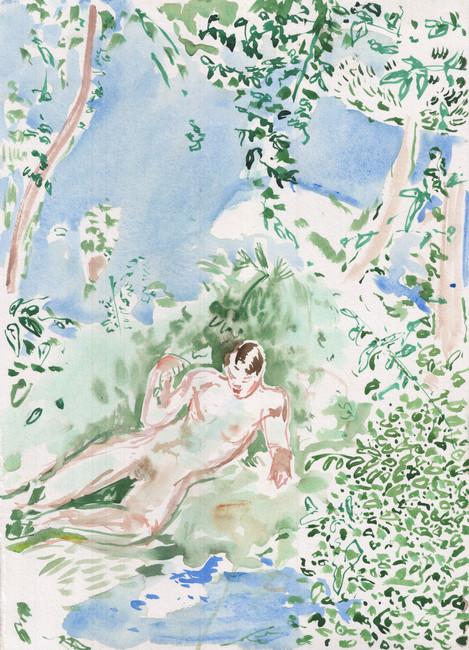 Giulio Catelli Ermafrodito, 2020 Watercolor on paper 45x35 cm €800