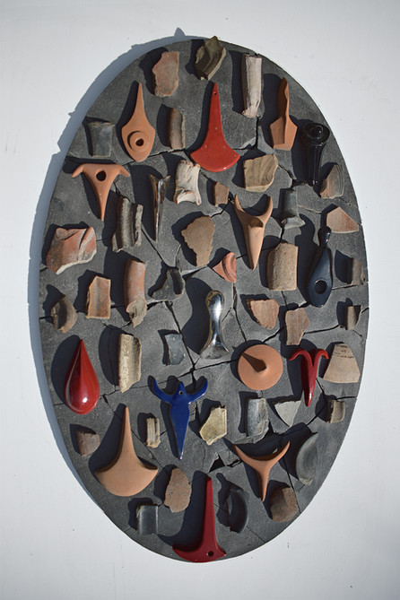 Alberto Emiliano Durante Fatherland, 2020 Terracotta, ceramic 70 x 45 cm