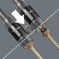 Le porte-embouts Impaktor à aimant annulaire permet par ailleurs un maintien à toute épreuve des vis même longues et lourdes – d'où un positionnement éclair et parfaitement sûr de celles-ci.