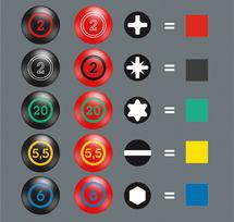 Les tournevis dynamométriques bénéficient du système Take it Easy de Wera. Ce système de couleurs permet de retrouver facilement les bonnes tailles de tournevis pour les bons embouts.