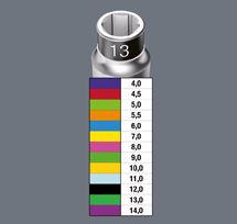 Système Take it Easy de Wera va de 4 à 14 pour les tailles de douills adaptées aux clés à ciquet Joker.
