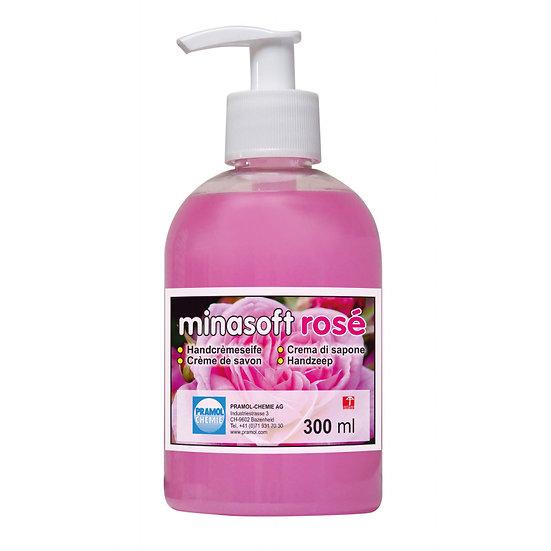 Flüssigseife Minasoft rosé / Karton à 6 Pumpflaschen