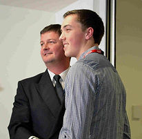2014 Josh Dunford receives his award fro