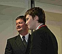 2014 David Bates receives his award from