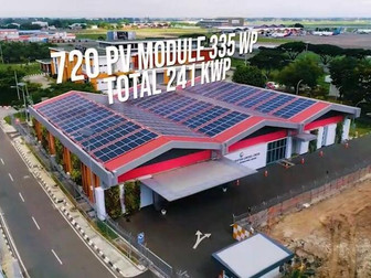Gedung AOCC Bandara Soekarno-Hatta Akan Gunakan Listrik Tenaga Surya