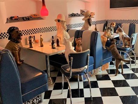 Training in einem etwas aussergewöhnlichen Café...