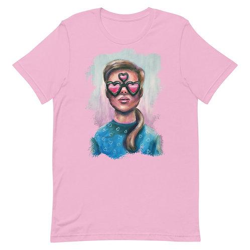 3rd Eye Glasses Tee in Pink