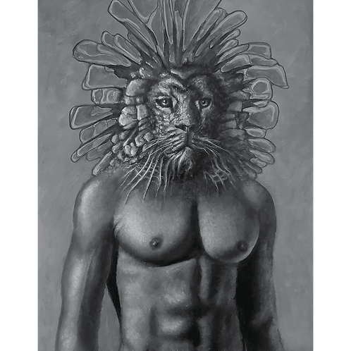 The Shaman of Lions (bw)