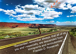 Road Skateboard (SI NEW Roosevelt quote)