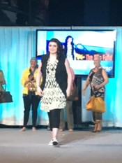 Survivor and The Ellis Fund recipient XXX walks the runway at GYNCA's Annual Spring Luncheon and Fashion Show in April 2016.   GYNCA, or the GYN Cancers Alliance, provides education and resources to women and caregivers affected by gynecological cancers.