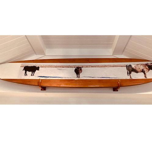 """Longhorns""Stoked Surfboard"