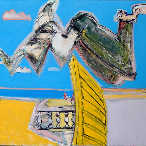 Man Leaps into the Mediterrean