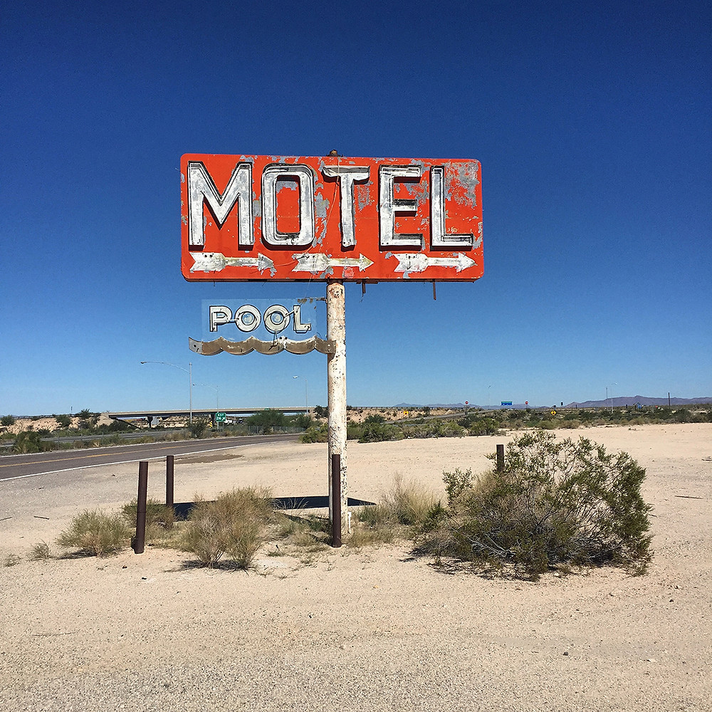 """Motel"" 20"" x 20"" photography w/ resin"
