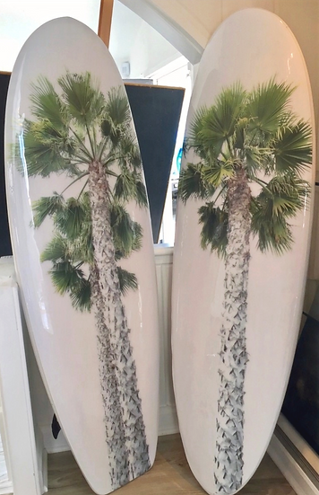 "Bobbi Bennett ""SexyPalms""on a Stoked Surfboard"