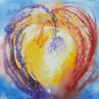 Abstract Watercolour, representing spritual and earthly