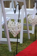 Aisle Decoration - Wicker Heart