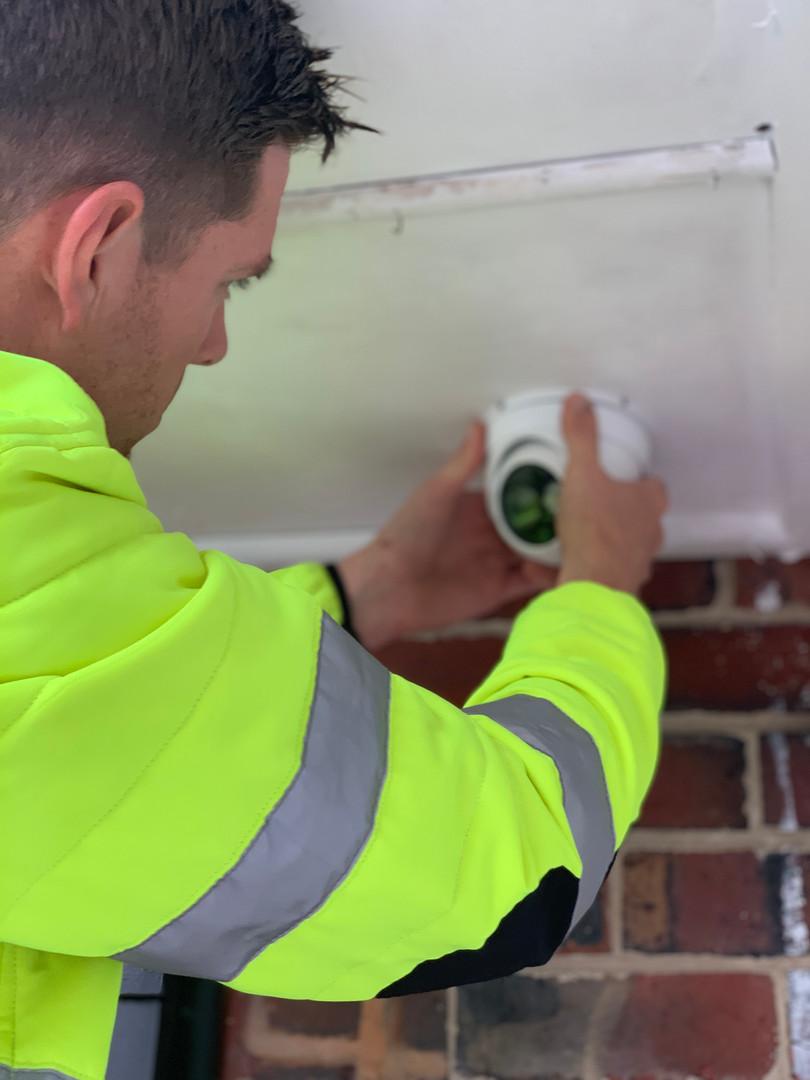 Cameron Installing CCTV
