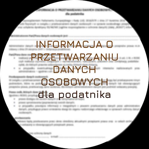 Klauzula informacyjna dla podatnika