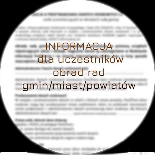 Klauzula informacyjna dla uczestników obrad rad gmin/miast/powiatów