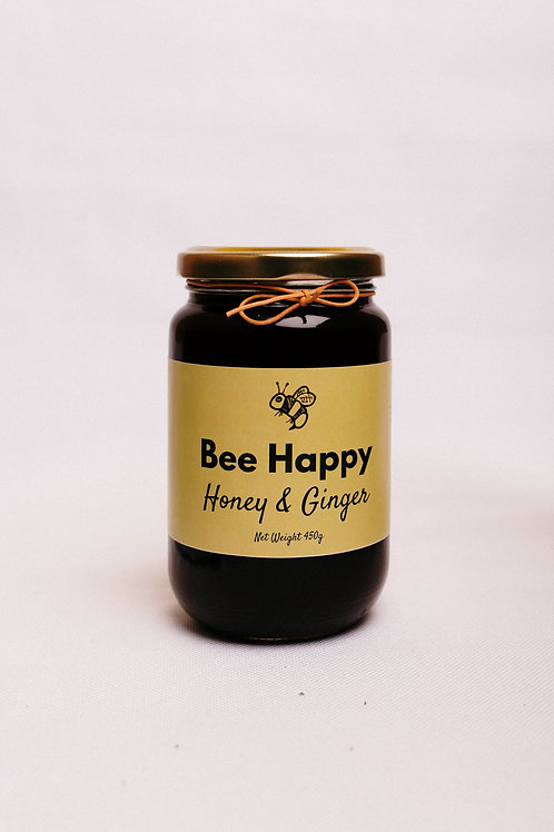 Bee Happy Honey & Ginger 450g