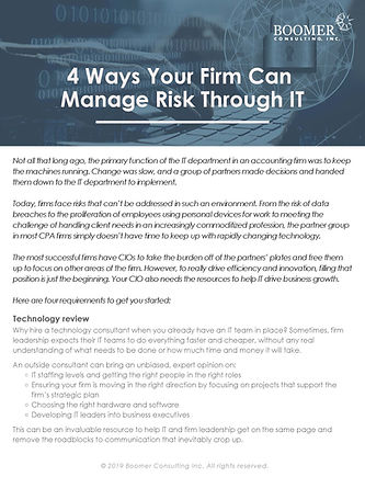 4 Ways Your Firm Can Manage Risk Through