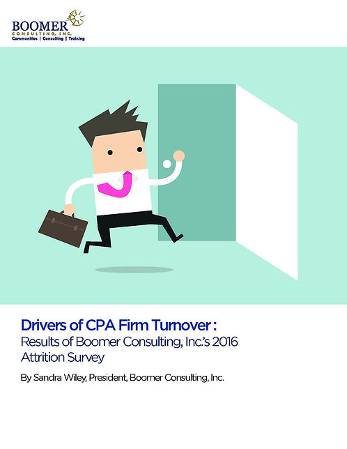 Drivers of CPA Firm Turnover: Boomer Consulting, Inc.'s 2016 Attrition Survey