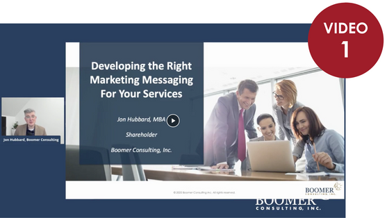 Developing the Right Marketing Messaging for Your Services