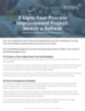 Lean Consulting LeanGen - 5 Signs Your P