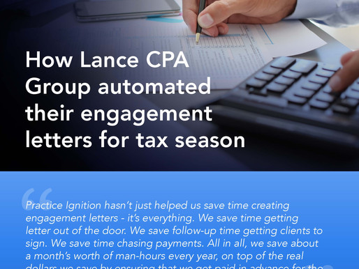 How Lance CPA Group automated their engagement letters for tax season