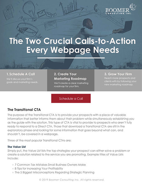 The Two Crucial Calls-to-Action Every We
