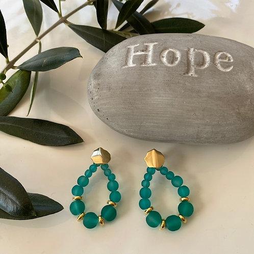 Earrings - Oceane Green