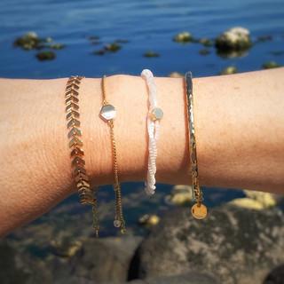 Gold Plated Bracelets Accumulation