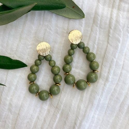 Earrings - Oceane Khaki