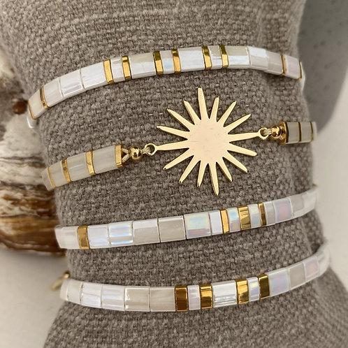 Bracelet - Mia - Gold & White