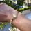 Thumbnail: Bracelet - Mia - Gold & White
