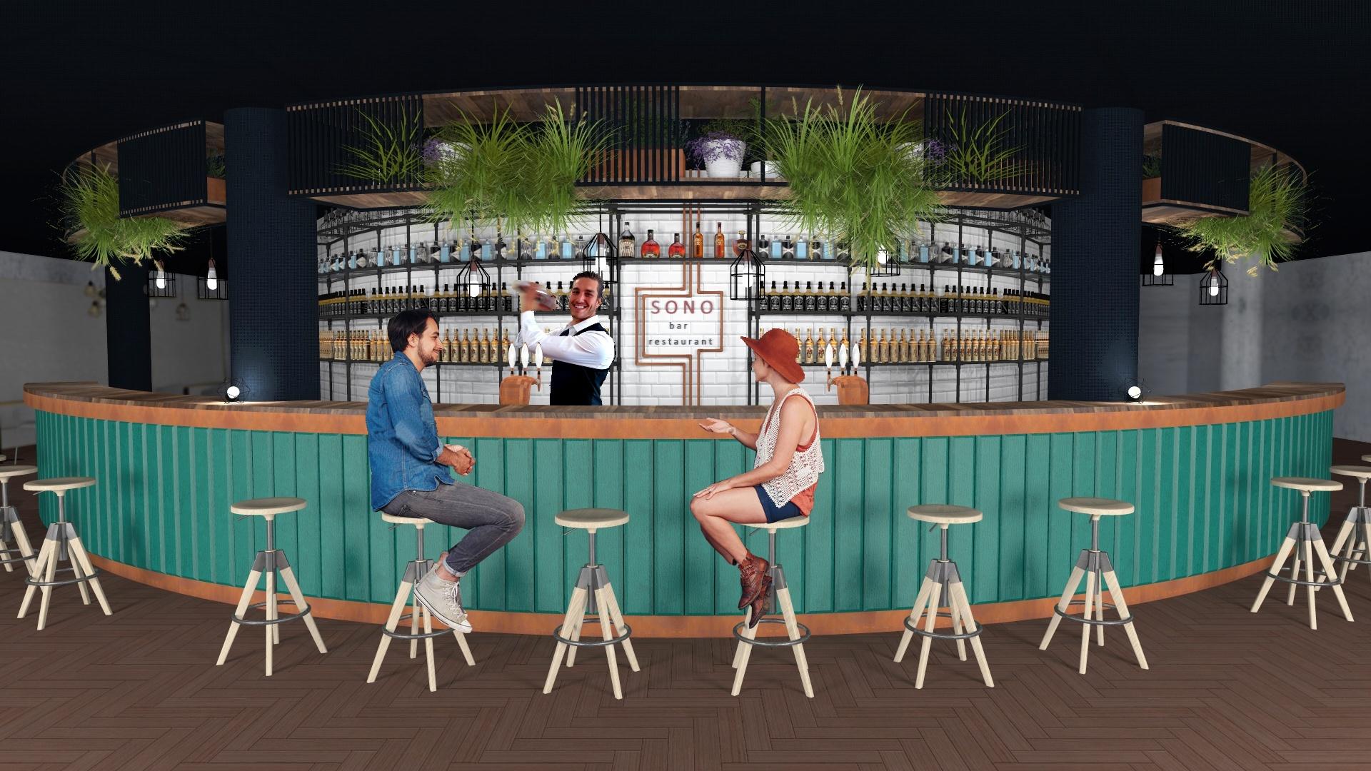 Návrh restaurace Hudební klub Sono B