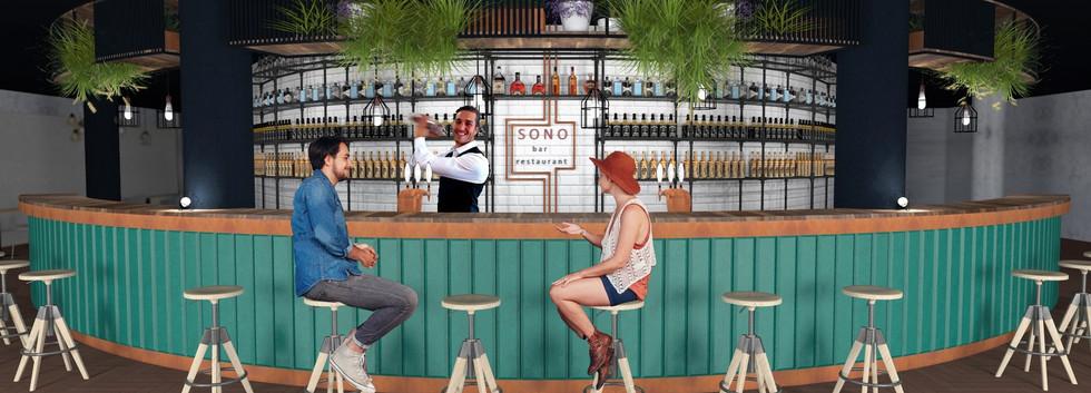 Návrh restaurace Hudební klub Sono Brno