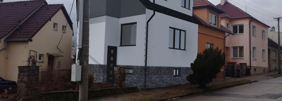 Realizovaný projekt rekonstrukce rodinného domu v Třebíči, Dukelská.