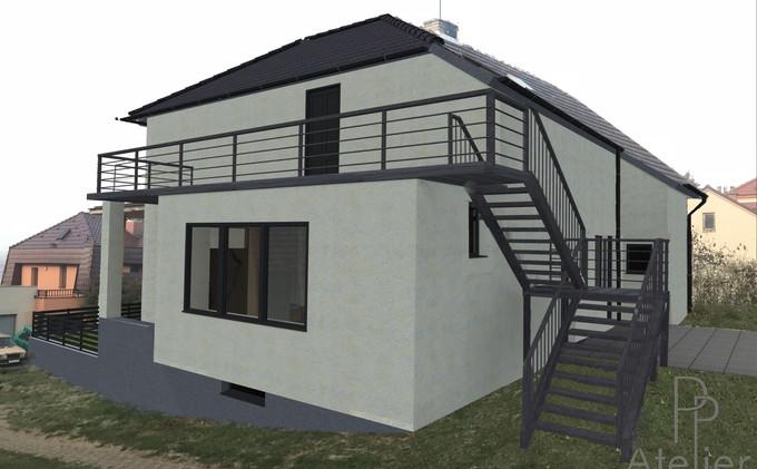 Realizovaný projekt rekonstrukce rodinného domu v Rosicích - Tetčicích