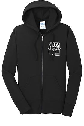 Port & Co Ladies Core Fleece Full-Zip Hooded Sweatshirt