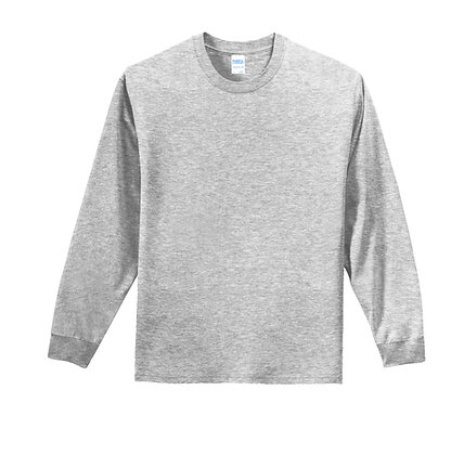 Port & Co Cotton L/S Tee- Tall