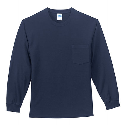 Port & Co 100% Cotton L/S Tee- Tall