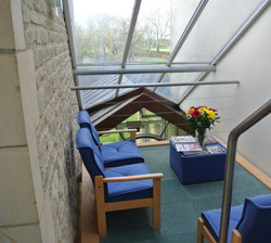 Upstairs meeting area
